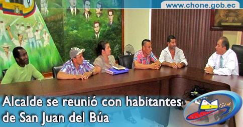 Alcalde se reunió con habitantes de San Juan del Búa