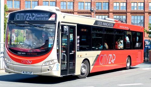 ML06 ZAP 'The Burnley Bus Company' No. 1871 'CITYZAP'. Volvo B7RLR / Wright Eclipse Urban 2 /1 on Dennis Basford's railsroadsrunways.blogspot.co.uk'