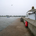 colour on a grey evening in Mudeford