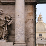 Piazza del Popolo is where foreigners arrived in Rome during the era of the Empire