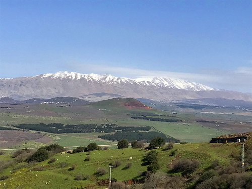 middleeast israel mounthermon mountbental mountain view landscape border nature snow