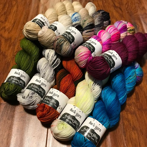 A new shipment of @hedgehogfibres has arrived! Ten new colours = 28 colours