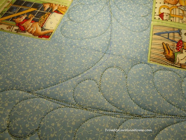 Feather Quilting at From My Carolina Home