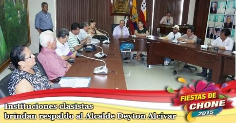 Instituciones clasistas brindan respaldo al Alcalde Deyton Alcívar