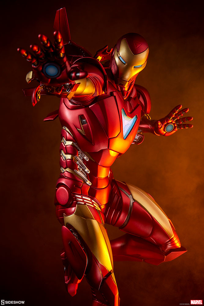 Sideshow Collectibles Marvel【鋼鐵人 絕境馬克2】Iron Man Extremis Mark II 1/5 比例全身雕像作品