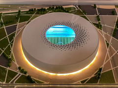 Modell des Al Thumama Stadions
