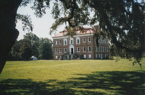 charleston sc southcarolina drayton hall vintage old photo planation antebellum house mansion building county rice crop slaves civil war american onasill nrhp register ashley river low country piedmont palladian style architecture john magnolia gardens window view
