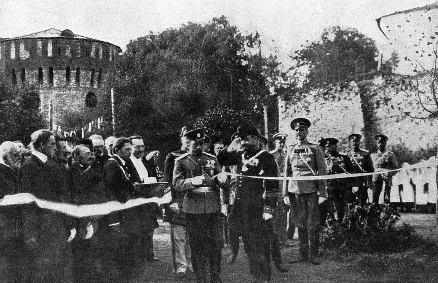 Открытие Государем Императором Бульвара 1812 года