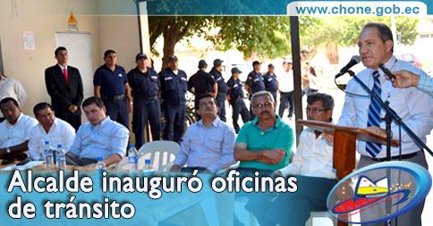 Alcalde inauguró oficinas de tránsito