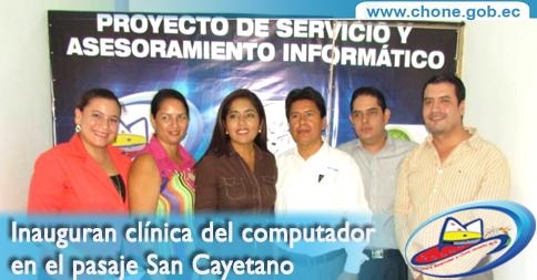 Inauguran clínica del computador en el pasaje San Cayetano
