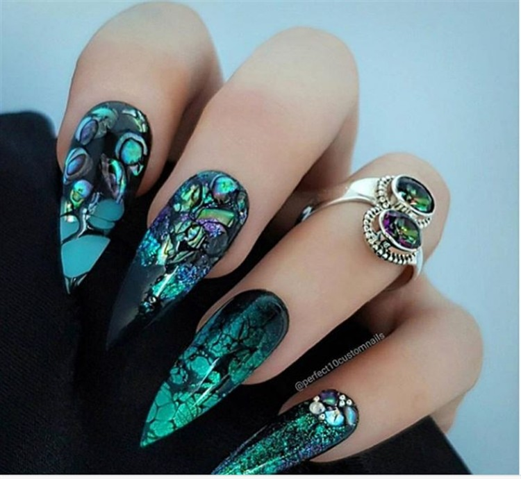 30+ Awesome Green Nail Art Designs Ideas Trends 2018