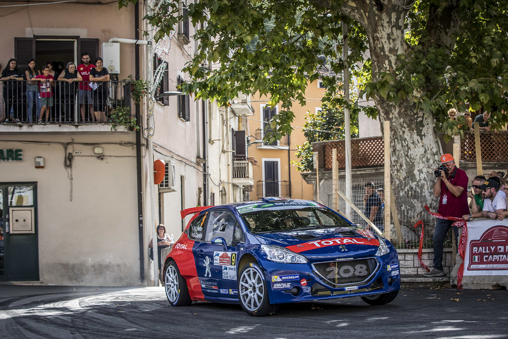 09 Laurent Pellier (FRA), Geoffrey Combe FRA), Peugeot Rally Academy, PEUGEOT 208 R5, during the 2018 European Rally Championship ERC Rally di Roma Capitale,  from july 20 to 22 , at Fiuggi, Italia - Photo Gregory Lenormand / DPPI