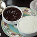 Strawberry preserves and clotted cream for scones