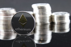Ethereum ETH Crypto Coin Stock Photo