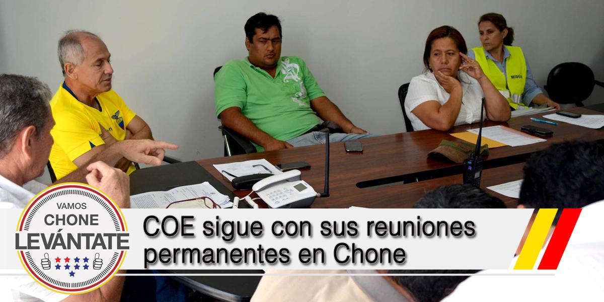 COE sigue con sus reuniones permanentes en Chone