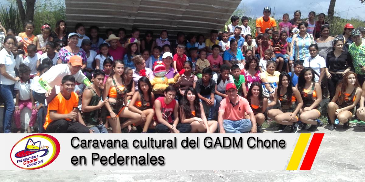 Caravana cultural del GADM Chone en Pedernales