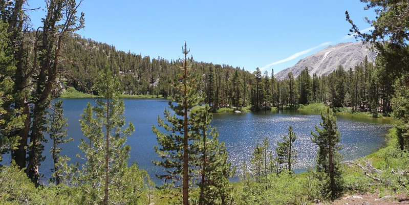 Fourth Lake with Mount Alice on the right, from the North Fork Big Pine Creek Trail