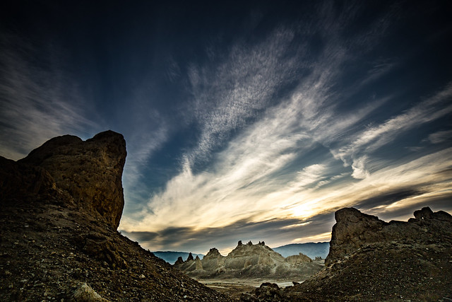 early morning at Trona Pinnacles