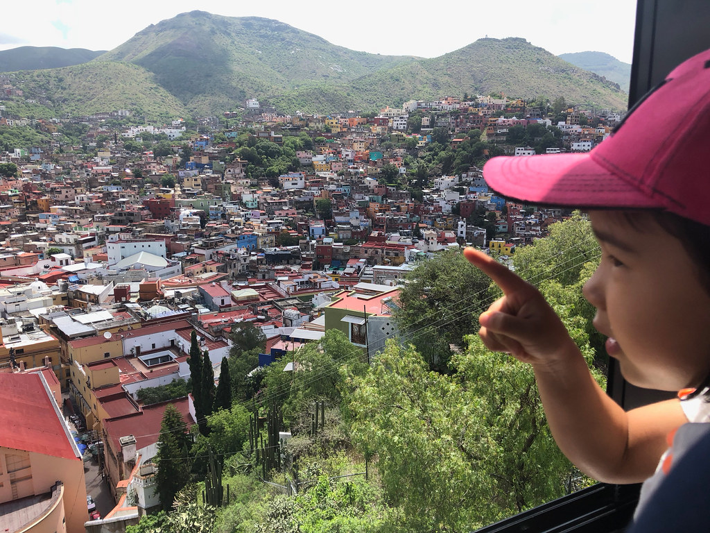 On the funicular overlooking town