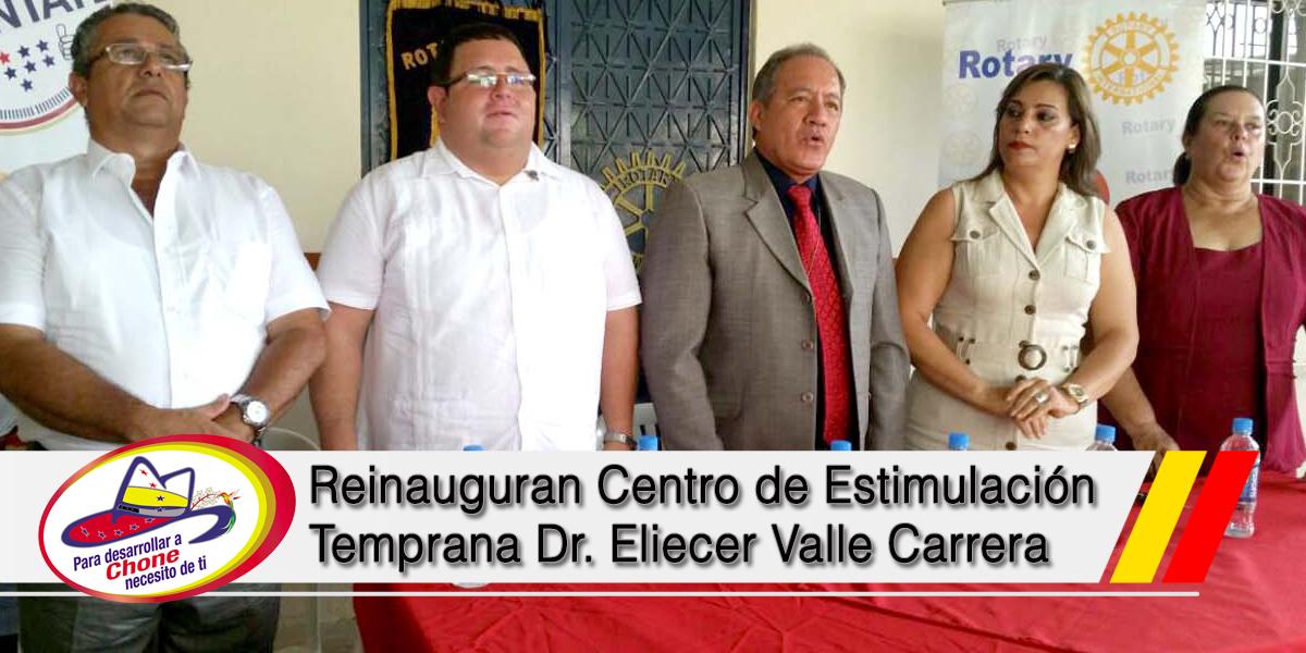 Reinauguran Centro de Estimulación Temprana Dr. Eliecer Valle Carrera
