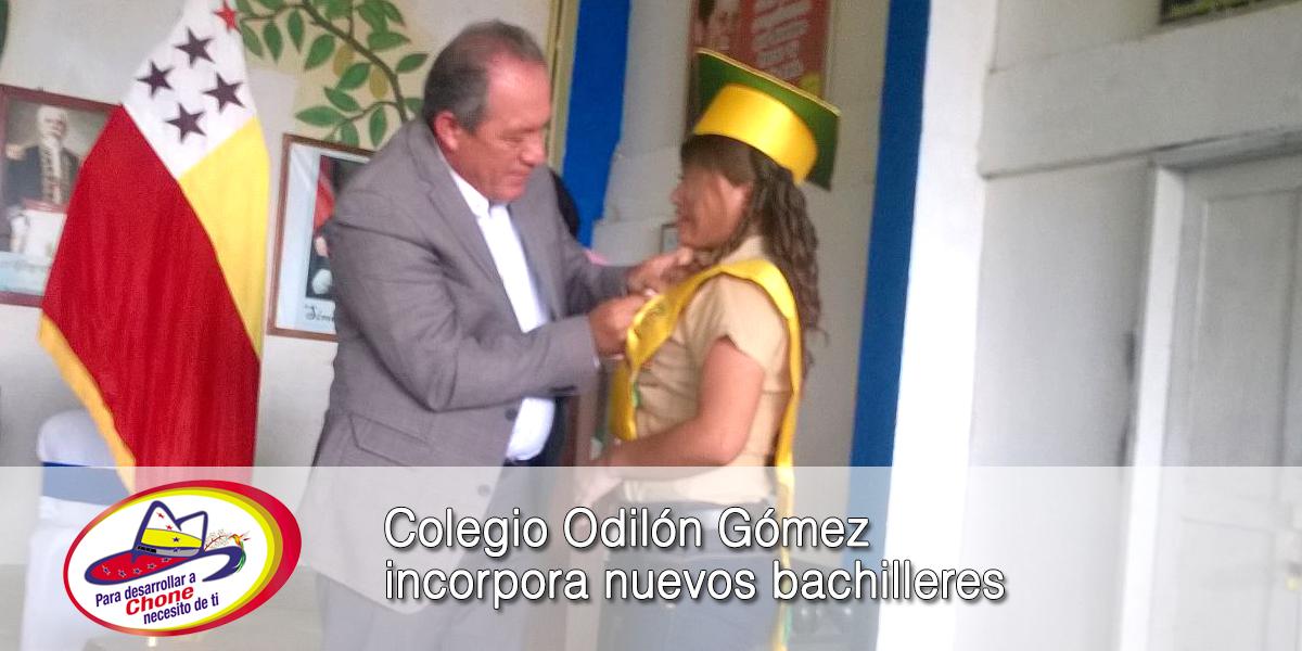 Colegio Odilón Gómez incorpora nuevos bachilleres