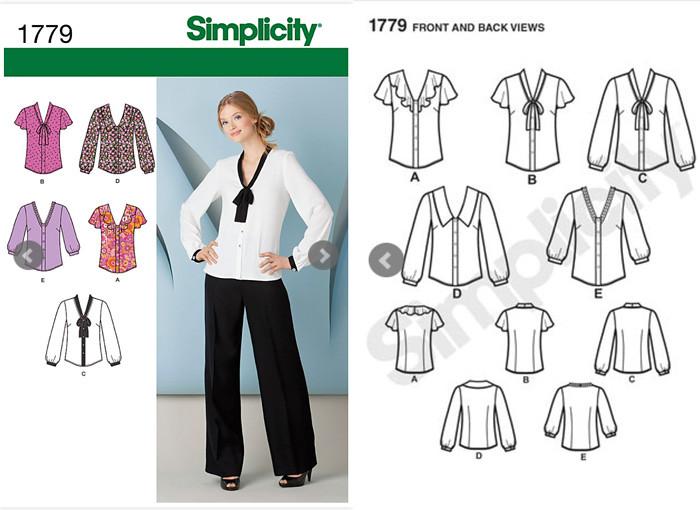 Simplicity 1779 pattern envelope
