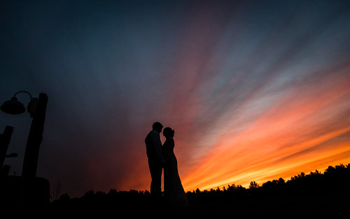 silhouette wedding valleyviewfarm haydenvillema massachusetts reception bride groom amitphotographs