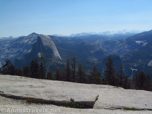 Half Dome and Nevada Falls (bottom right) from Sentinel Dome in Yosemite National Park, California