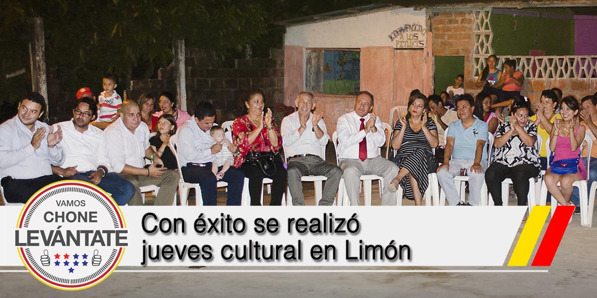 Con éxito se realizó jueves cultural en Limón