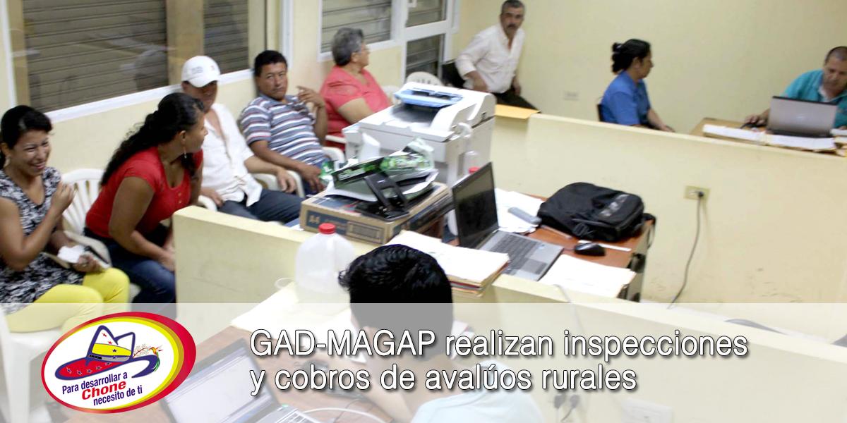 GAD-MAGAP realizan inspecciones y cobros de avalúos rurales