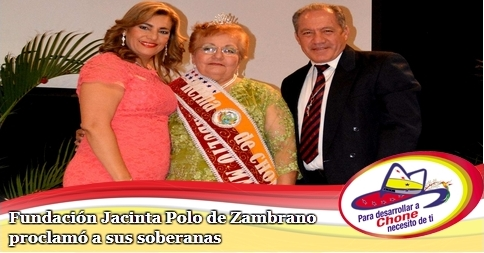 Fundación Jacinta Polo de Zambrano proclamó a sus soberanas