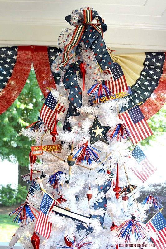 Patriotic Tree-Home is Where the Boat Is