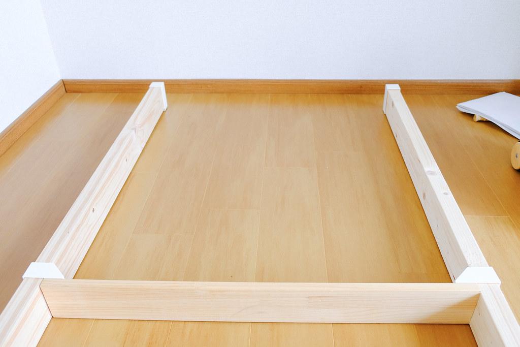ラブリコ アジャスターと棚受けを2×4材に取り付け