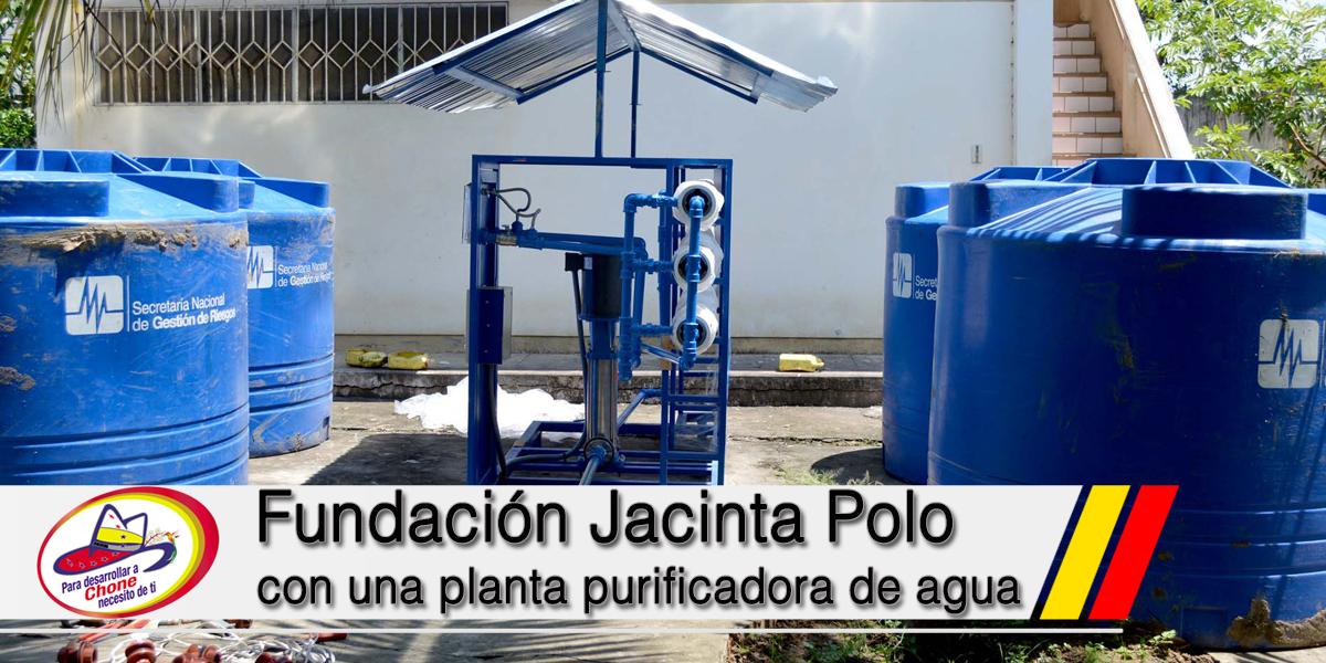 Fundación Jacinta Polo de Zambrano con una planta purificadora de agua