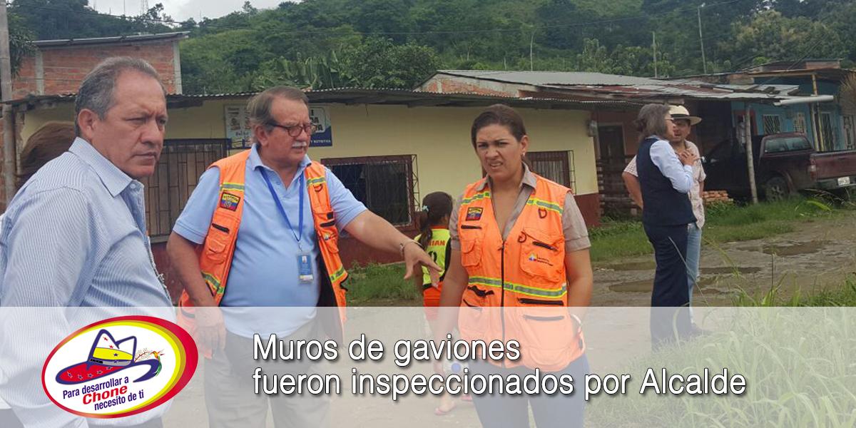 Muros de gaviones fueron inspeccionados por Alcalde