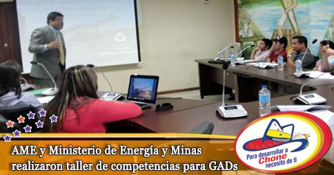 AME y Ministerio de Energía y Minas realizaron taller de competencias para GADs