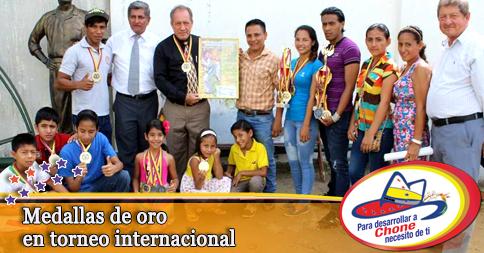 Medallas de oro en torneo internacional
