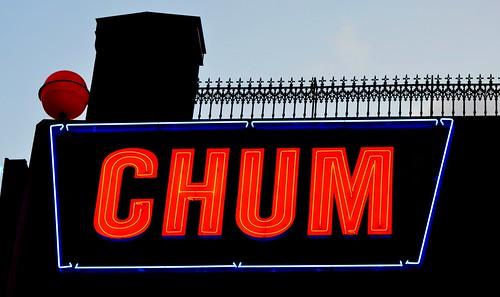 CHUM Radio Station / Neon Call Letters .... Toronto, Ontario, Canada