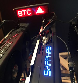 Mining Rig GPU-BTC-UP-LED