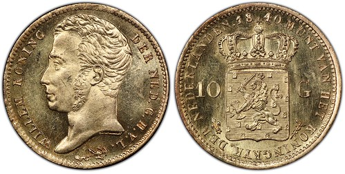Netherlands 1840 10 Gulden