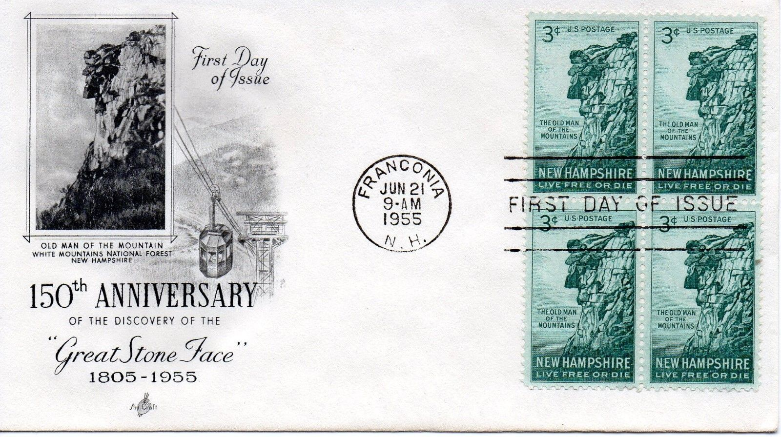 United States - Scott #1068 (1955) first day cover, ArtCraft cachet