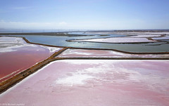 Salt evaporation ponds, Redwood City, California.