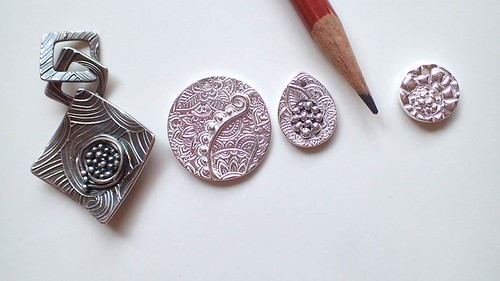 "Silver ""nests"" class: 3 samples, 1 student piece."