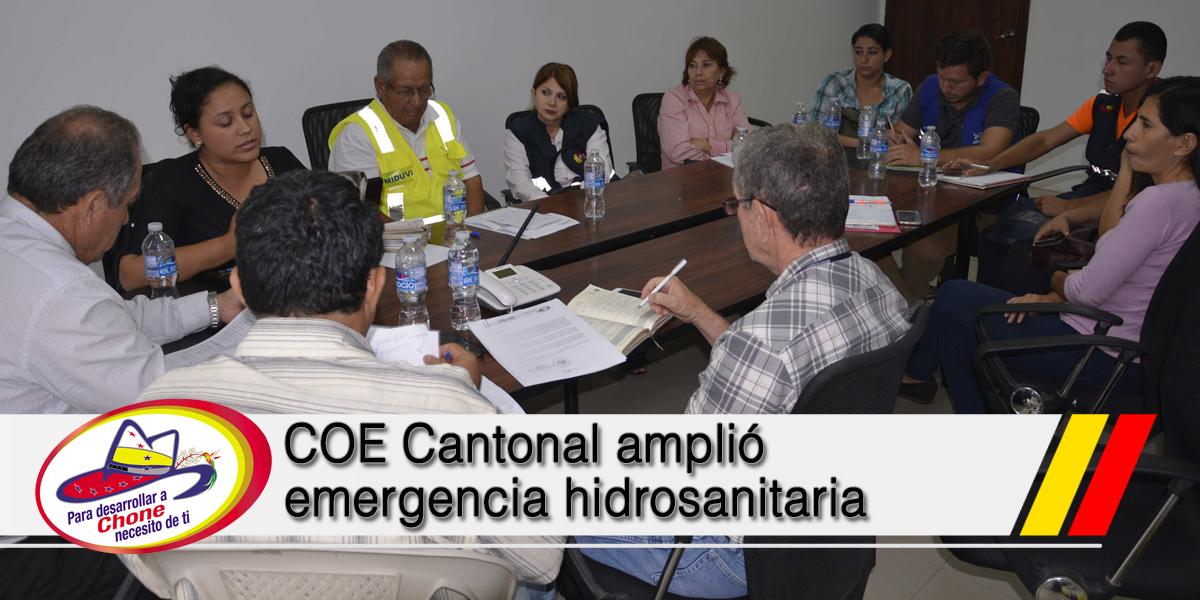 COE Cantonal amplió emergencia hidrosanitaria