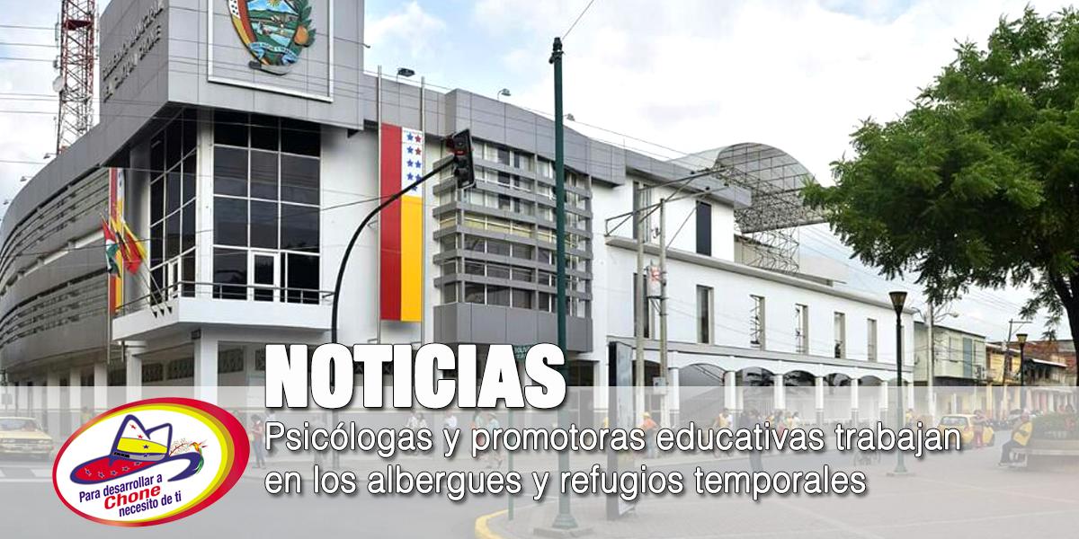 Psicólogas y promotoras educativas trabajan en los albergues y refugios temporales