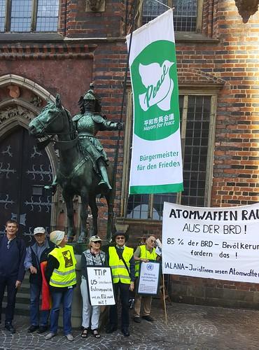 ippnw Deutschland Flaggentag der Bürgermeister für den Frieden in Bremen, Foto: Ekkehard Lentz