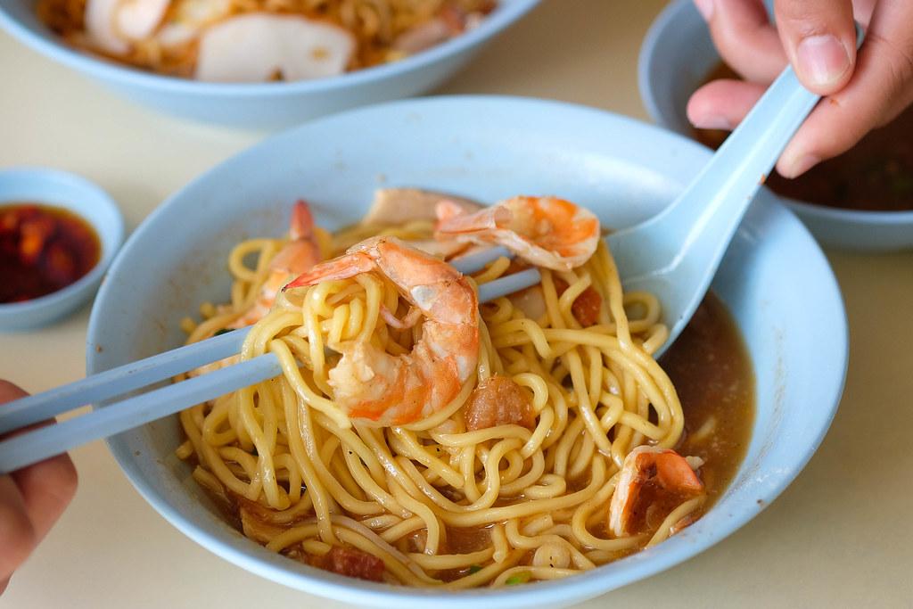 生花面虾米汤