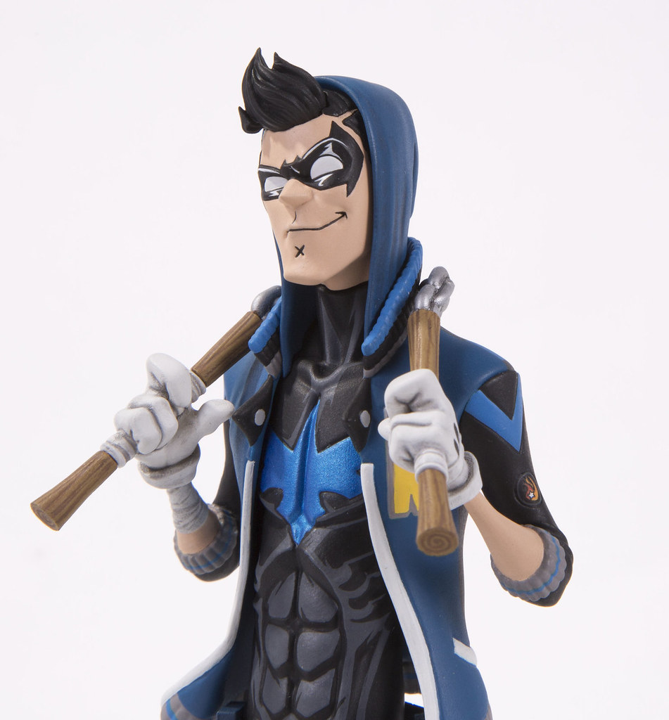 "藍色連帽外套有夠潮!! DC Collectibles DC Artists Alley【夜翼 by Hainanu ""Nooligan"" Saulque】 Nightwing by Hainanu ""Nooligan"" Saulque 全身雕像作品"