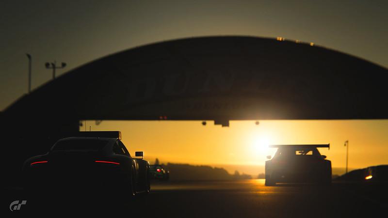 Sunset at Circuit de la Sarthe
