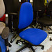Blue swivel chair new stock E80